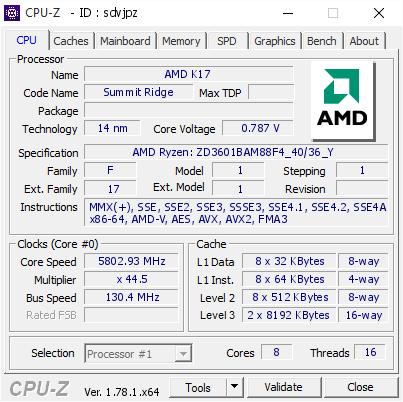 AMD Ryzen 7 1800X побил два мировых рекорда в 5.8GHz и 5.36GHz