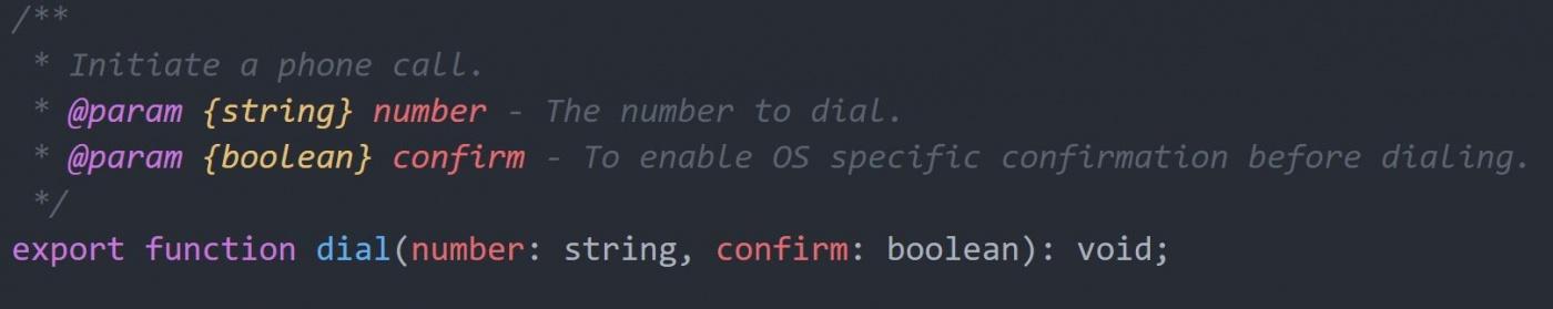 Как отправлять СМС и звонить с Angular NativeScript