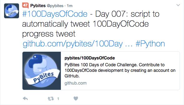 Как мы автоматизировали ежедневный твит проекта 100DaysOfCode