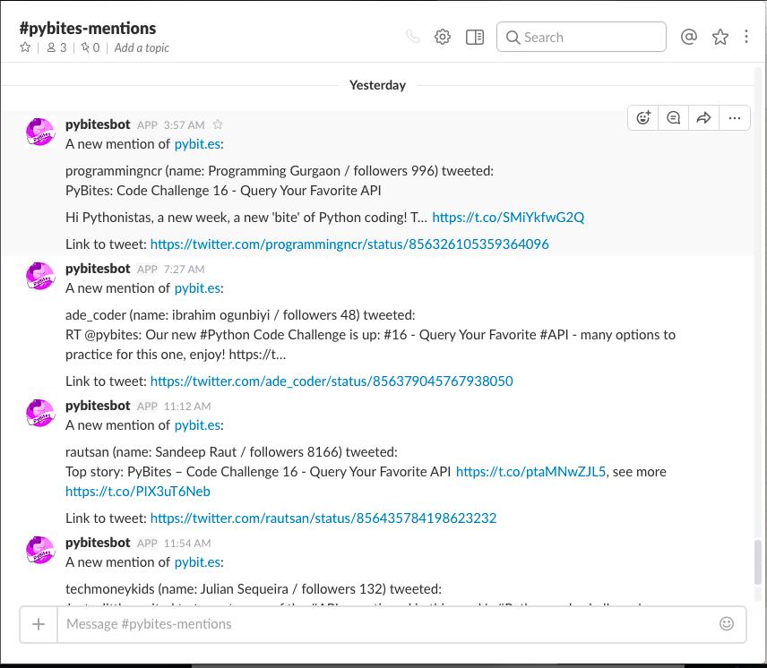 Создаём Slack бота для отслеживания вашего бренда в Twitter