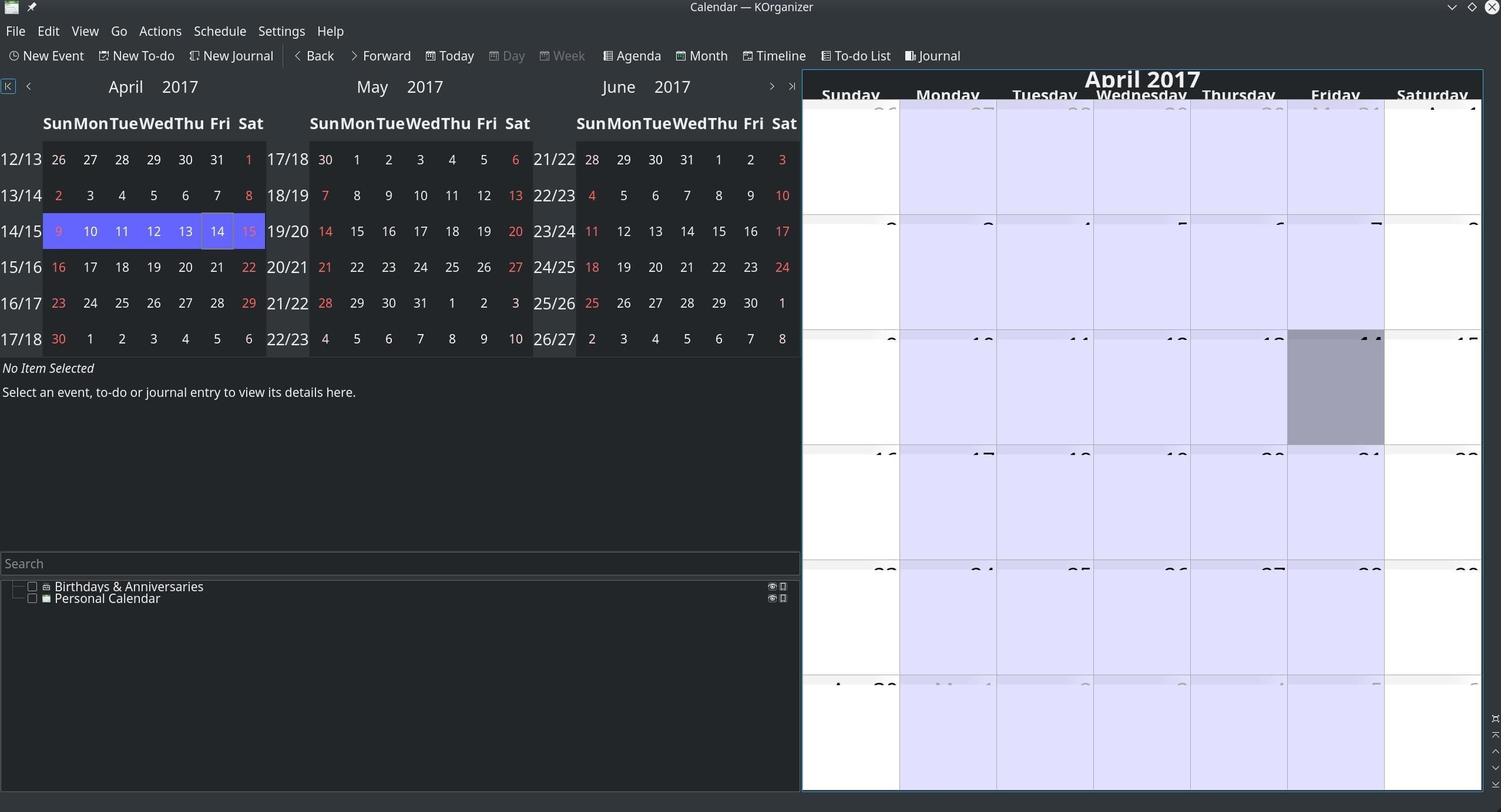 5 лучших приложений Календарь в Linux
