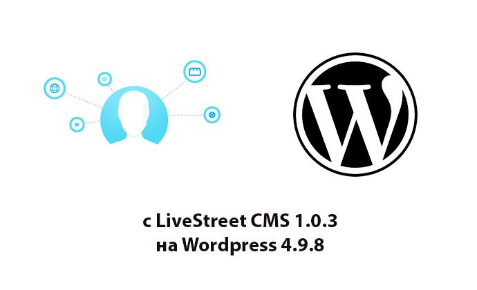 Перенос статей сайта на LiveStreet в WordPress