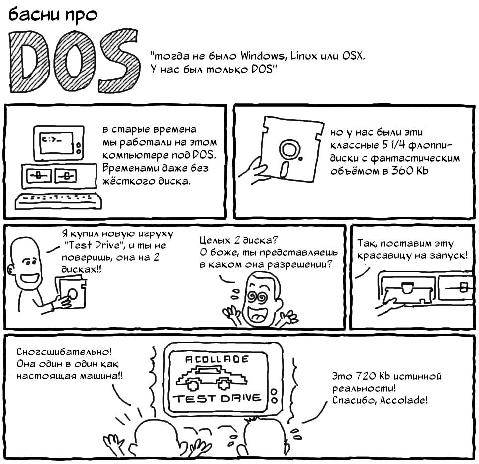 Басни про DOS